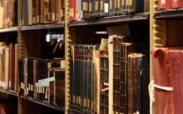 Bookstacks in Sterling Memorial Library at Yale University. Credit: Wikimedia Commons