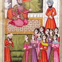L0033272 Persian prince with his attendants Credit: Wellcome Library, London. Wellcome Images