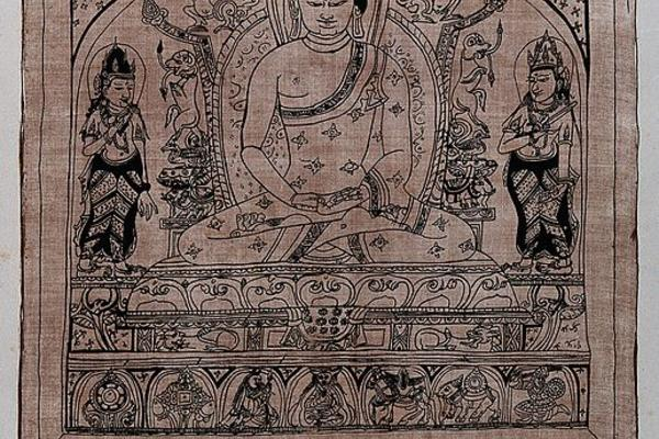 V0046096 The Dhyani Buddha Amitabha, in Tibetan Odpagmed Credit: Wellcome Library, London. Wellcome Images