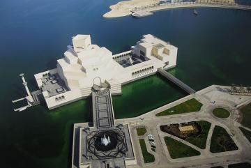 View of Museum of Islamic Art in Doha, Qatar from above, taken by Elisabetta Pietrostefani