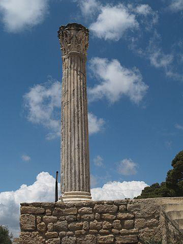 Roman Column at Carthage. Photograph from the Institute for the Study of the Ancient World. Credit: Wikimedia Commons