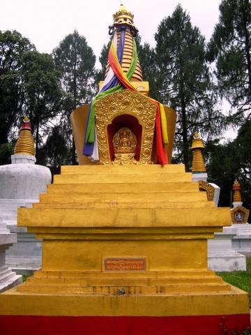 The golden chorten at the Tashiding monastery complex in West Sikkim. Photograph by Dhillan Chandramowli. Credit: Wikimedia Commons