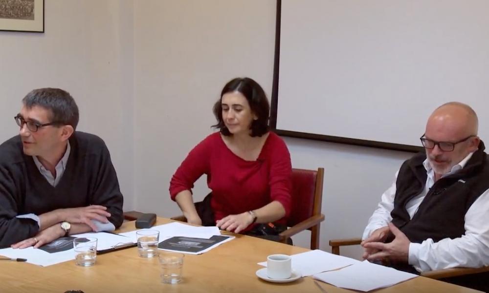 Photograph of Associate Professor Zeynep Yurekli-Gorkay's research presentation